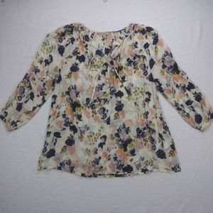 Lucky Brand Floral Blouse sz 1X
